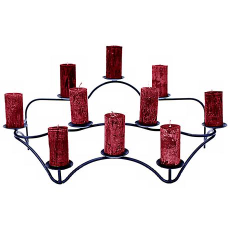 Contours Indoor/Outdoor Black Candelabra Candle Holder