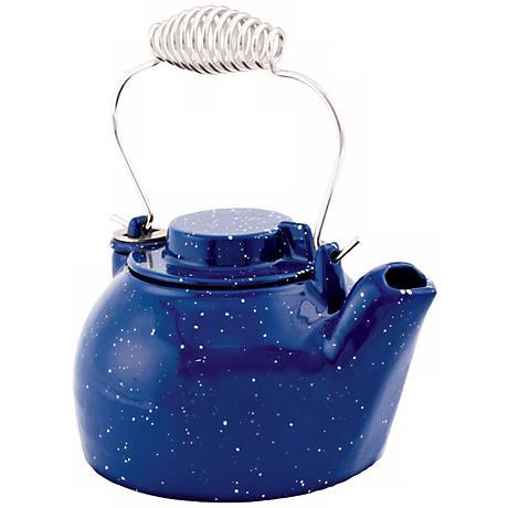 2 1/2 Quart Blue Enameled Cast Iron Humidifier Kettle