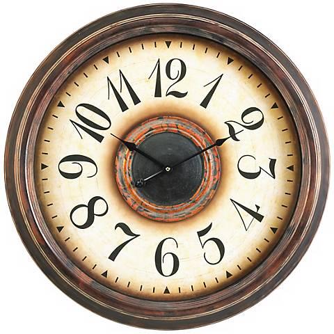 """Cooper Classics Potter 24"""" Wide Wall Clock"""