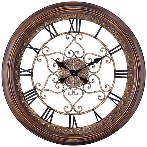"""Cooper Classics Audrey 24 1/2"""" Wide Wall Clock"""