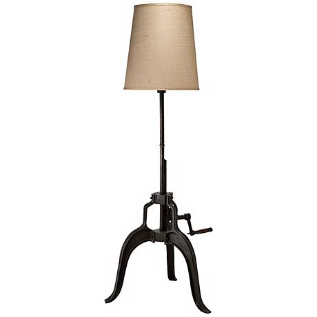 americana crank adjustable height floor lamp u9549 lamps plus. Black Bedroom Furniture Sets. Home Design Ideas