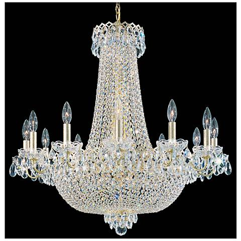 "Schonbek Camelot 30""W Aurelia 24-Light Crystal Chandelier"