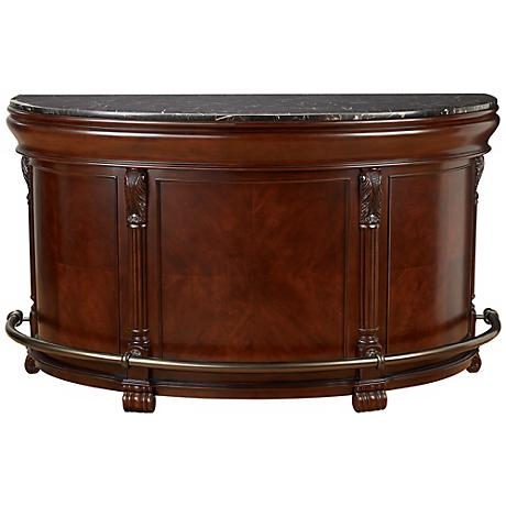 Tuscany Cherry Half-Moon Howard Miller Home Bar Cabinet