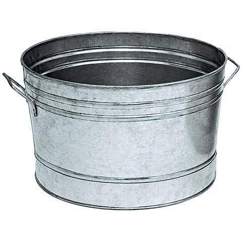 """Galvanized Steel 16 1/4"""" Round Tub"""