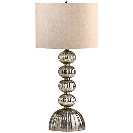 Cardinal Mirrored Glass Table Lamp