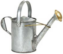 Short-Necked Galvanized Steel Watering Can