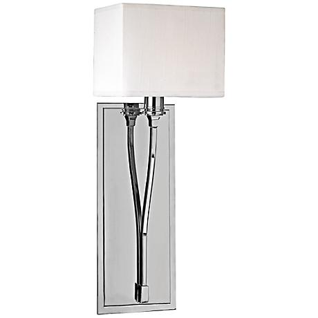 """Hudson Valley Selkirk 20""""H Polished Nickel Wall Sconce"""