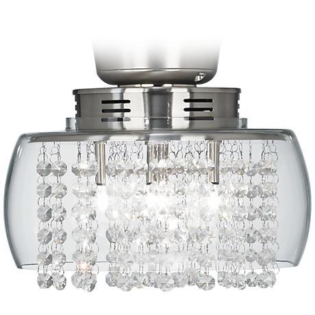"Possini Euro Design Crystal 11"" Round Ceiling Fan Light Kit"