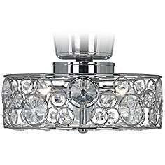 Ceiling Fan Crystal Chandelier Light Kits: Possini Euro Design Crystal 10