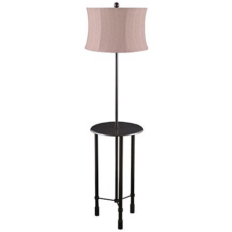 Poise Oil-Rubbed Bronze Tri-Leg Floor Lamp with Tray Table