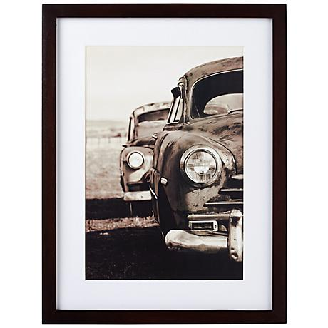 """Espresso Finish 17"""" High Wood Photo Frame with Mat"""