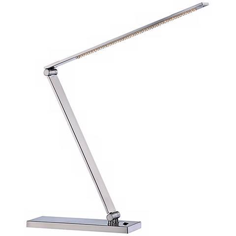Lite Source Sloane II Polished Steel LED Desk Lamp