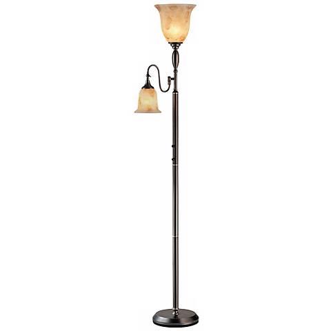 Lite Source Zesiro Torchiere Floor Lamp with Reading Arm