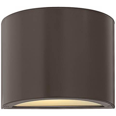 """Hinkley Luna Up-Down 9"""" Wide Bronze Outdoor Wall Light"""