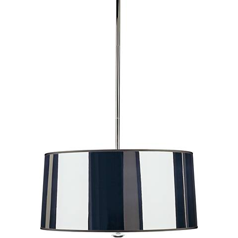 "Penelope 25 1/2""W Silver Shade Polished Nickel Pendant Light"