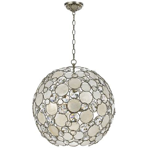 Crystorama Solaris English Bronze 28 Wide Pendant Light