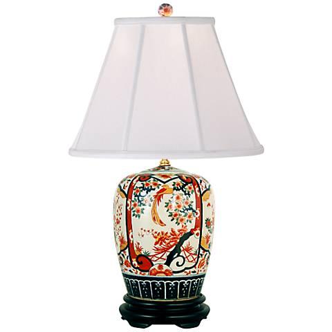 Imari Ginger Jar Porcelain Table Lamp