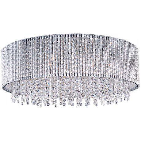 "ET2 Spiral 22"" Wide Polished Chrome Flushmount Ceiling Light"