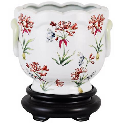Lily Porcelain Cachepot
