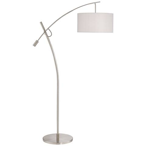 Possini Euro Brushed Steel Boom Arched Floor Lamp V2696
