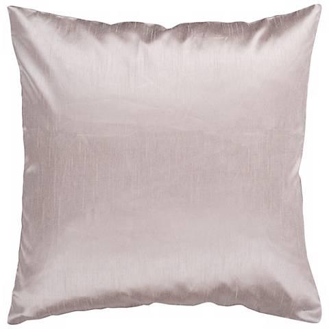 "Surya 18"" Square TaupeThrow Pillow"