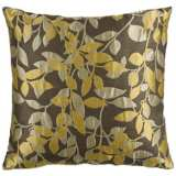 "Surya 18"" Square Split Pea Green Throw Pillow"