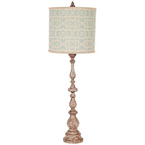 Maggiore Aged Tuscan White Baluster Buffet Lamp