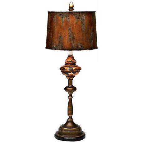 Thames Aged Copper Bronze Metal Buffet Lamp