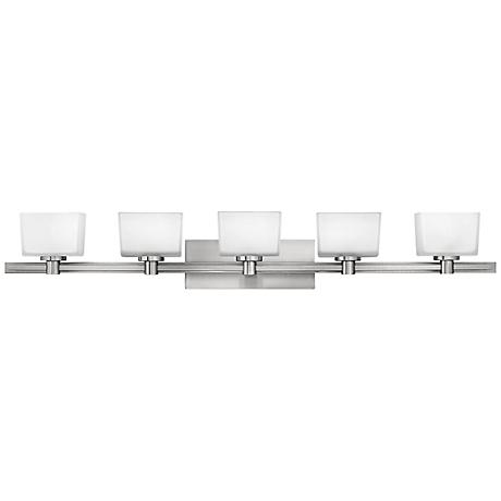 "Hinkley Taylor 45"" Wide Brushed Nickel Bathroom Light"