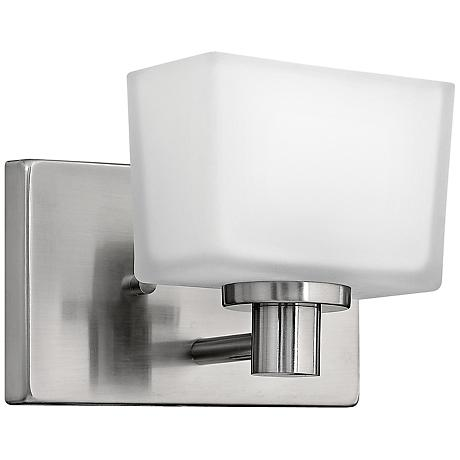 full of contemporary flair this wall sconce is a stunning accent for. Black Bedroom Furniture Sets. Home Design Ideas