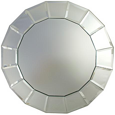 "Beveled Block 13"" Wide Mirror Charger Plate"