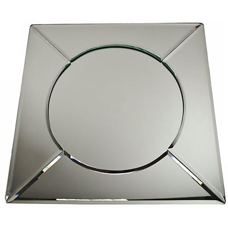 """Mirrorred 13"""" Square Plate Charger"""