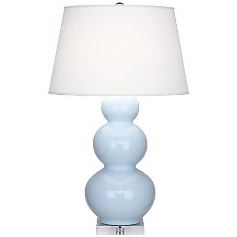 Robert Abbey Light Blue Triple Gourd Ceramic Buffet Lamp