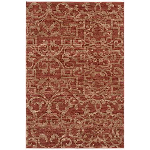 French Quarter Henna Karastan Area Rug