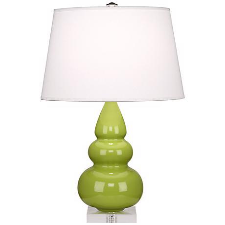 Robert Abbey Apple Triple Gourd Ceramic Table Lamp