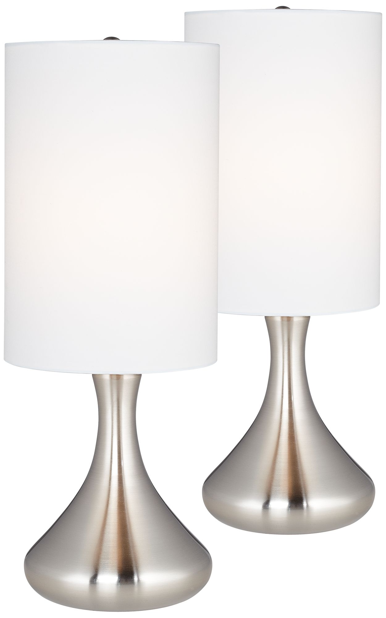 Melmore Brushed Steel Mini Droplet Table Lamp Set
