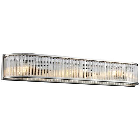 "Braxton Collection 28"" Wide Polished Nickel Bathroom Light"
