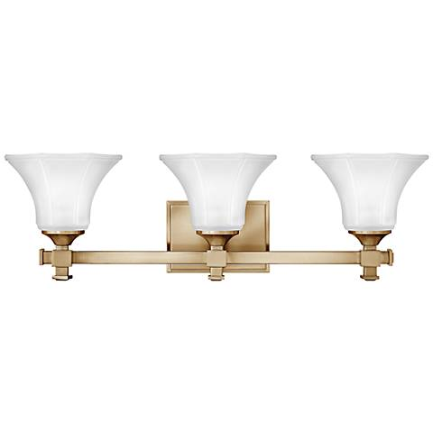 "Hinkley Abbie 25 1/4"" Wide Brushed Caramel Bathroom Light"
