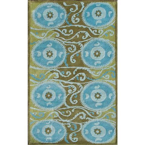 Camden Collection Suzani Tile Blue Area Rug
