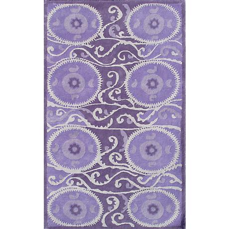 Camden Collection Suzani Tile Lavender Area Rug