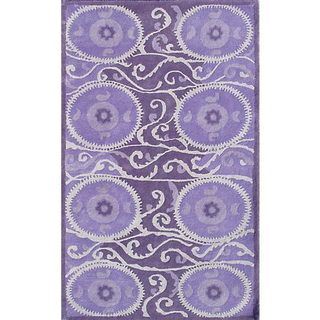 Camden Collection Suzani Tile Lavender Area Rug