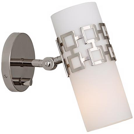 Jonathan Adler Parker Nickel Plug In Swing Arm Wall Lamp V4658 Lamps Plus