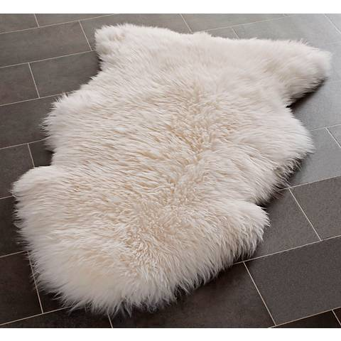 White Sheepskin Rug SHS121A