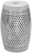 Silver Diamond Cut Out Ceramic Accent