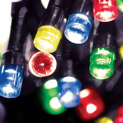 Solar 50 LED Multi-Color String Lights