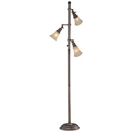 Mercede Antique Copper 3-Lite Tree Lamp