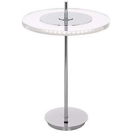 Otoniel LED Acrylic Disc and Chrome Table Lamp