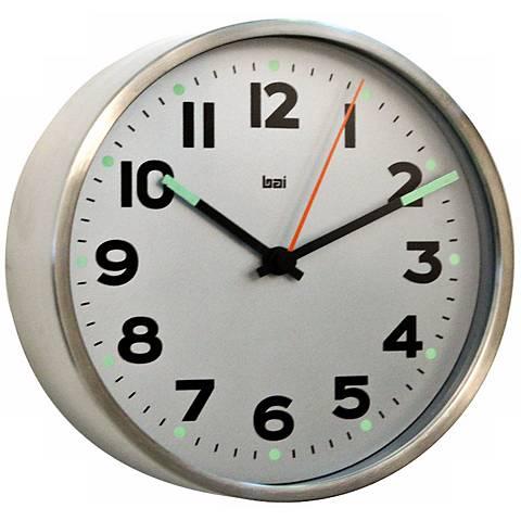 "Helio 6"" Wide White Modern Wall Clock"