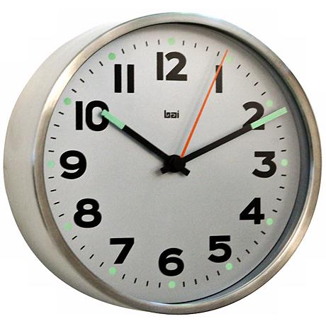 Helio 6 Wide White Modern Wall Clock V5322 Lamps Plus