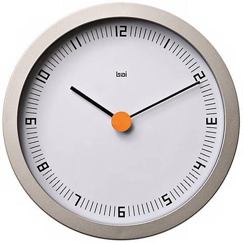 "Designer Studio Dot Zero 8"" Wide Modern Wall Clock"